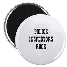 POLICE INSPECTORS ROCK Magnet