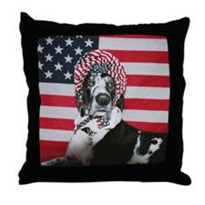 Lollipop 4th of July Throw Pillow
