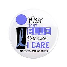 "I Wear Light Blue Because I Care 9 3.5"" Button (10"