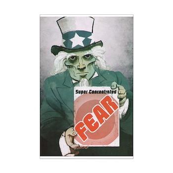 Fear Uncle Sam! Mini Poster Print