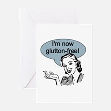 Retro Glutton Free Greeting Cards (Pk of 10)