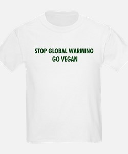 Stop Global Warming! Go Vegan T-Shirt