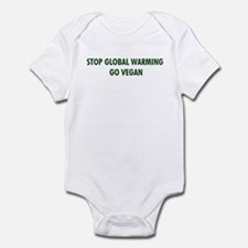 Stop Global Warming! Go Vegan Infant Bodysuit