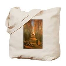 Van Gogh Avenue of Poplars Tote Bag