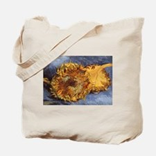 Van Gogh Two Cut Sunflowers Tote Bag