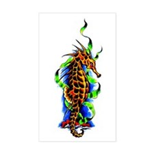 Seahorse Animal Art Tattoo Rectangle Decal