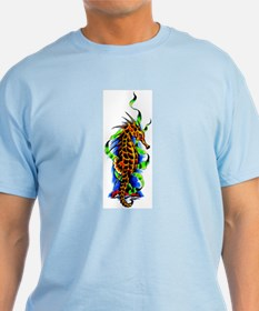 Seahorse Animal Art Tattoo T-Shirt