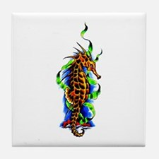 Seahorse Animal Art Tattoo Tile Coaster