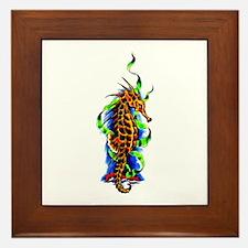 Seahorse Animal Art Tattoo Framed Tile