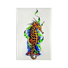 Seahorse Animal Art Tattoo Rectangle Magnet