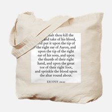 EXODUS  29:20 Tote Bag
