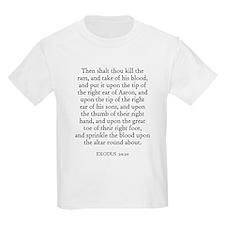 EXODUS  29:20 Kids T-Shirt