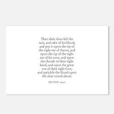 EXODUS  29:20 Postcards (Package of 8)