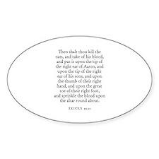 EXODUS 29:20 Oval Decal