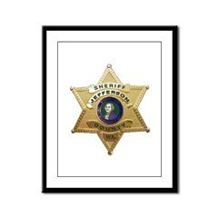 Jefferson County Sheriff Framed Panel Print