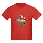 Dog Bath Kids Dark T-Shirt