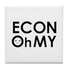 """ECONOhMY"" Tile Coaster"
