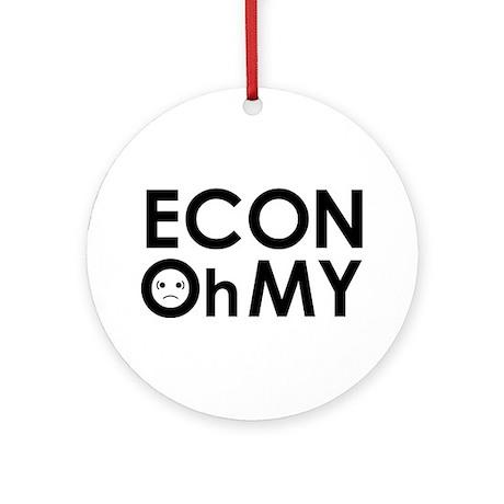 """""""ECONOhMY"""" Ornament (Round)"""