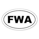 FWA Oval Sticker