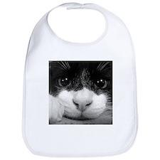 Black and White Cat Bib