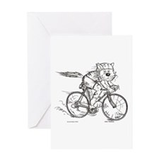 Bicycle Cat Greeting Card