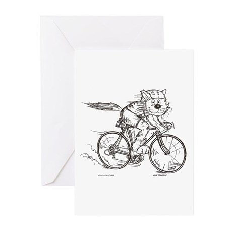 Bicycle Cat Greeting Cards (Pk of 20)