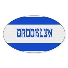 Israeli Brooklyn Flag - Oval Decal