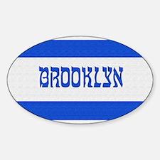 Israeli Brooklyn Flag - Oval Decal