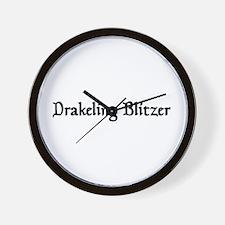 Drakeling Blitzer Wall Clock