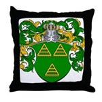 Van De Water Coat of Arms Throw Pillow