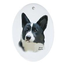 corgi portrait Oval Ornament