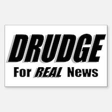 REAL News Rectangle Sticker 10 pk)