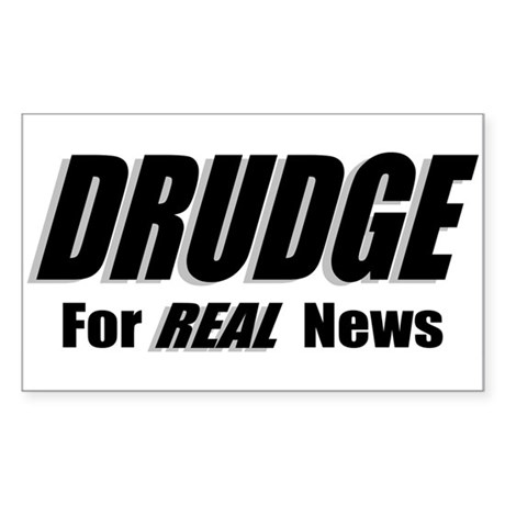 REAL News Rectangle Sticker