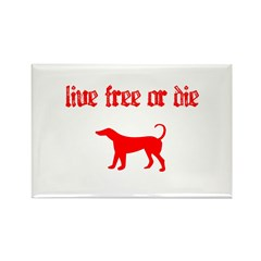 Live Free Rectangle Magnet