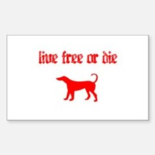 Live Free Rectangle Decal