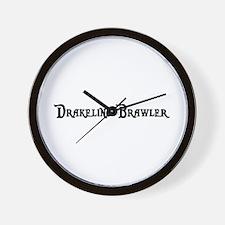 Drakeling Brawler Wall Clock
