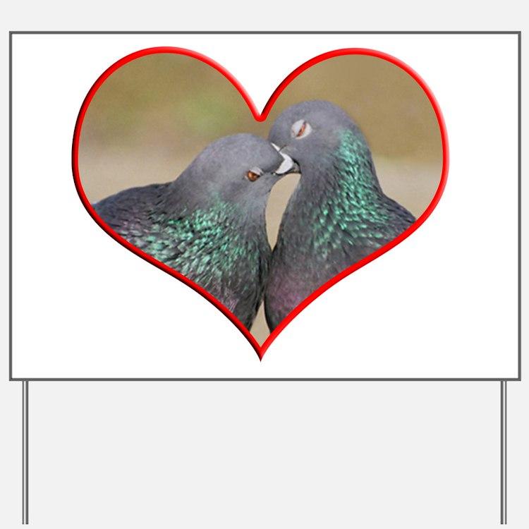 Pigeon Romance Yard Sign