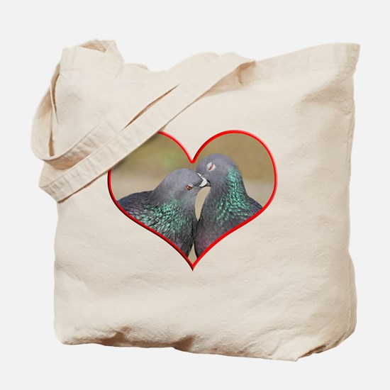 Pigeon Romance Tote Bag