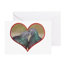Pigeon Romance Greeting Card