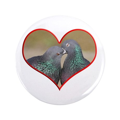 "Pigeon Romance 3.5"" Button (100 pack)"