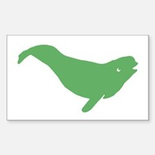 Beluga Whale Rectangle Decal
