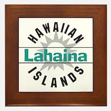 Lahaina Maui Hawaii Framed Tile
