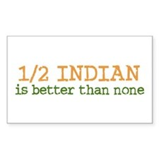 Half Indian Rectangle Sticker 10 pk)