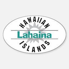 Lahaina Maui Hawaii Oval Decal