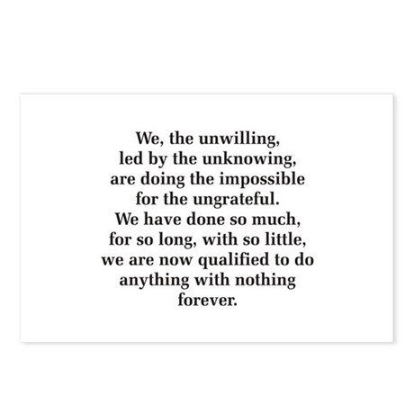 We The Unwilling Postcards (Package of 8)