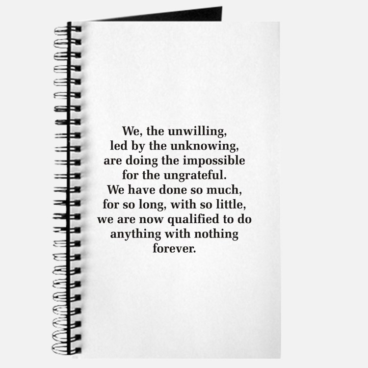 We The Unwilling Journal