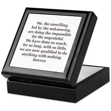 We The Unwilling Keepsake Box