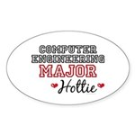 Computer Engineering Major Hottie Sticker (Oval 50