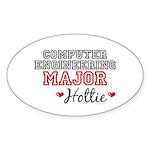 Computer Engineering Major Hottie Oval Sticker