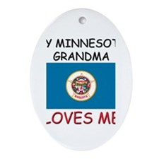 My Minnesota Grandma Loves Me Oval Ornament